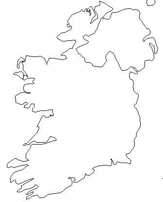 Blank Map Of Ireland - ClipArt Best