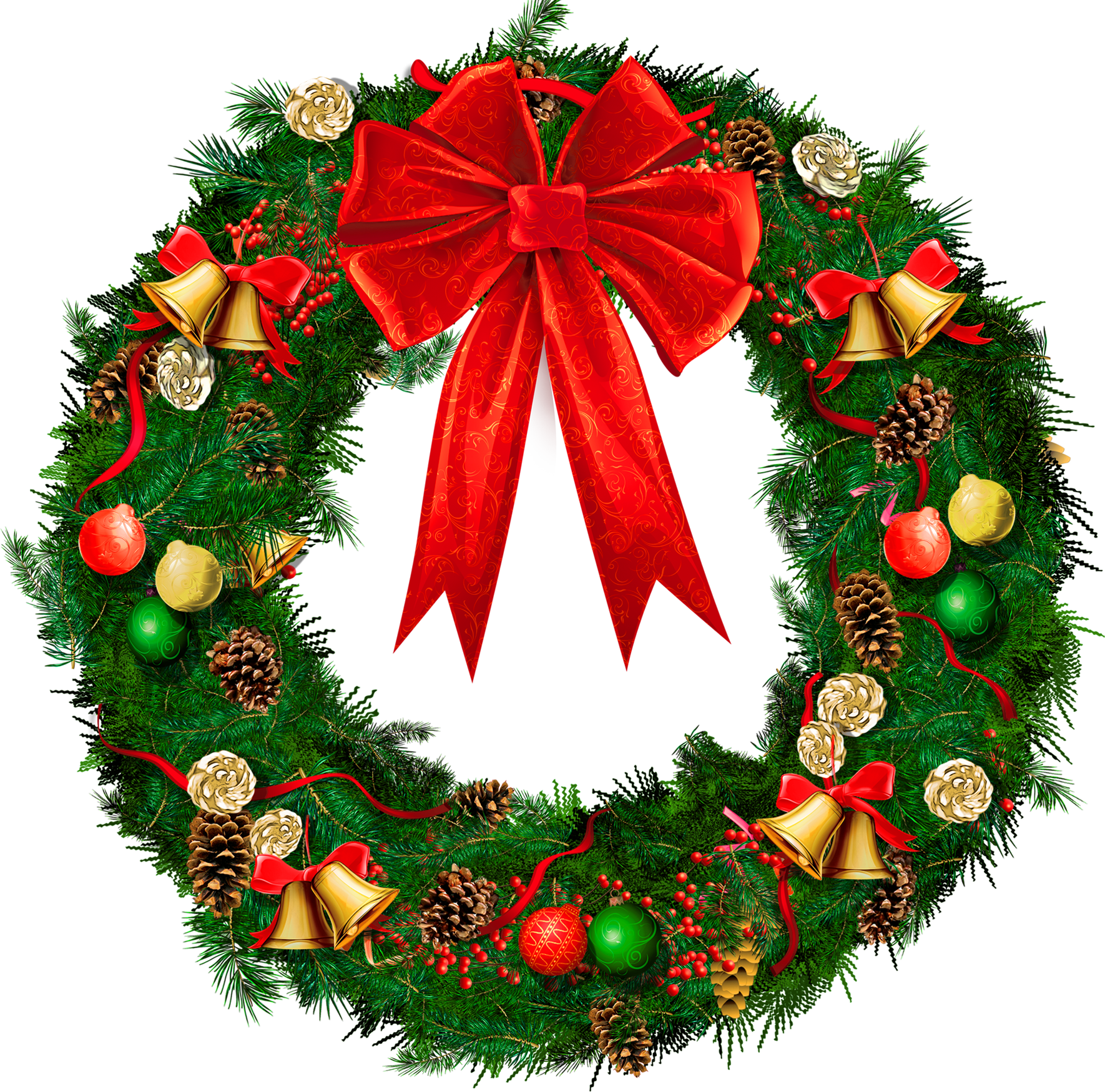 Christmas Wreaths Clip Art - ClipArt Best