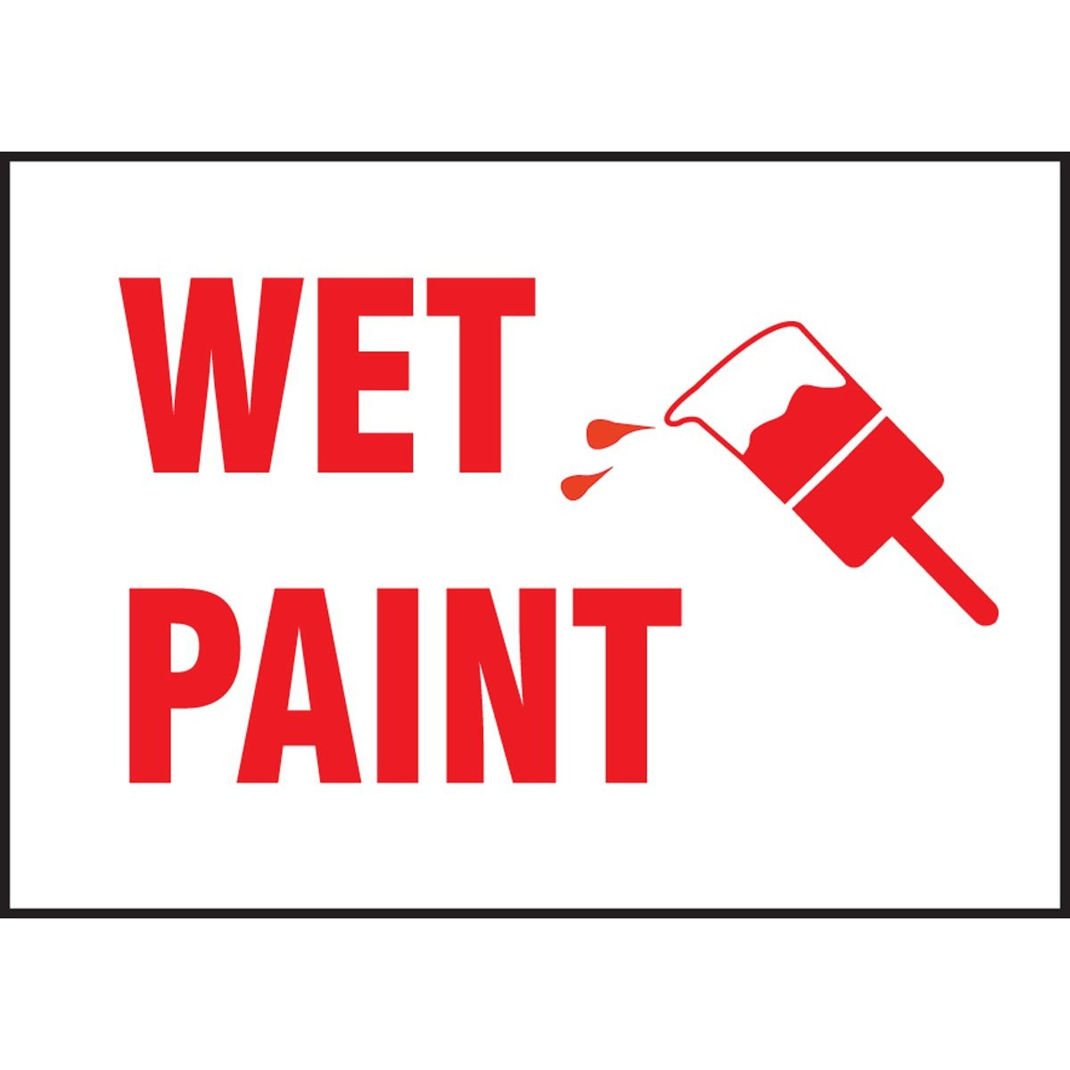 Epic image within printable wet paint sign