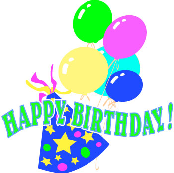 Birthday Clip Art Balloons and Party Hats