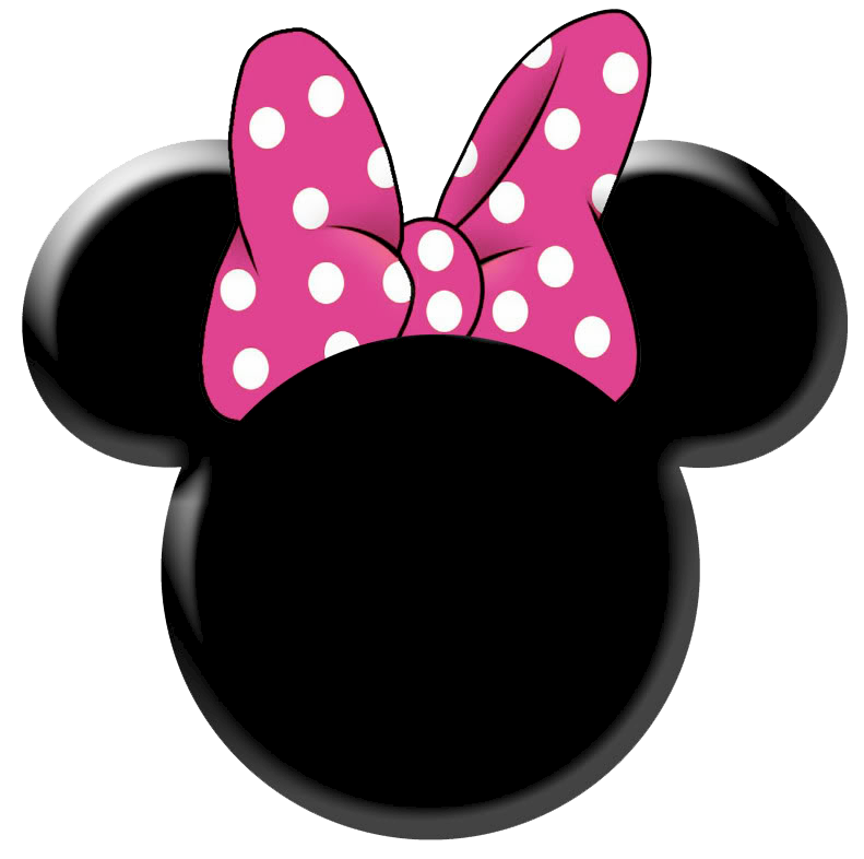 Clean image within minnie mouse silhouette printable