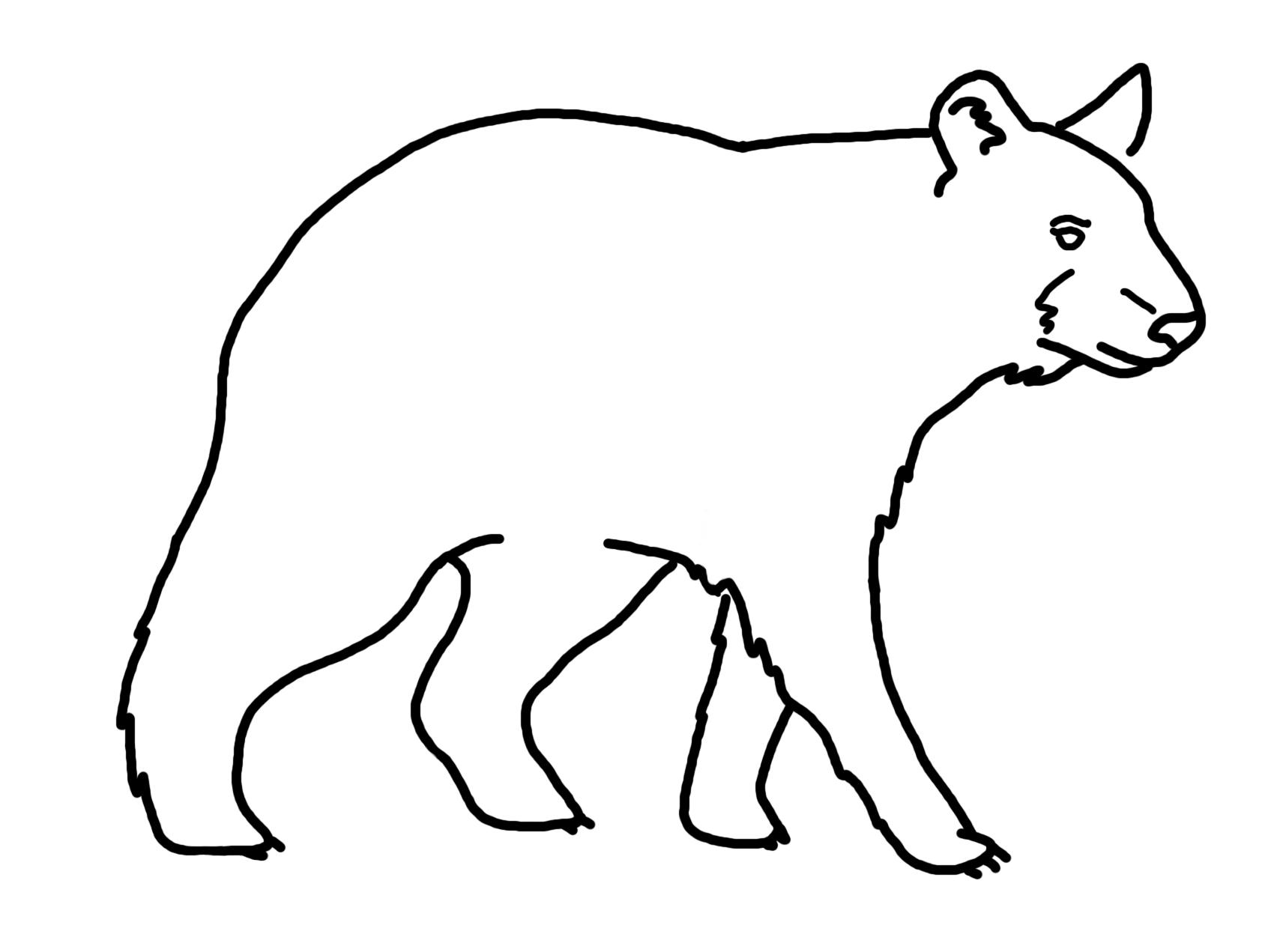 Line Art Bear : Bear line drawing clipart best