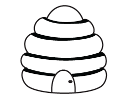 Beehive Coloring Page - ClipArt Best