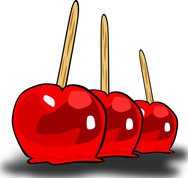 Candy Apples Clipart Candied Apples Clip Art