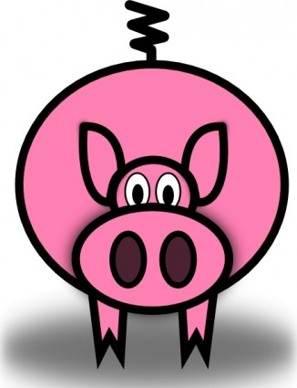 Pink Pig clip art Vector clip art - Free vector for free download