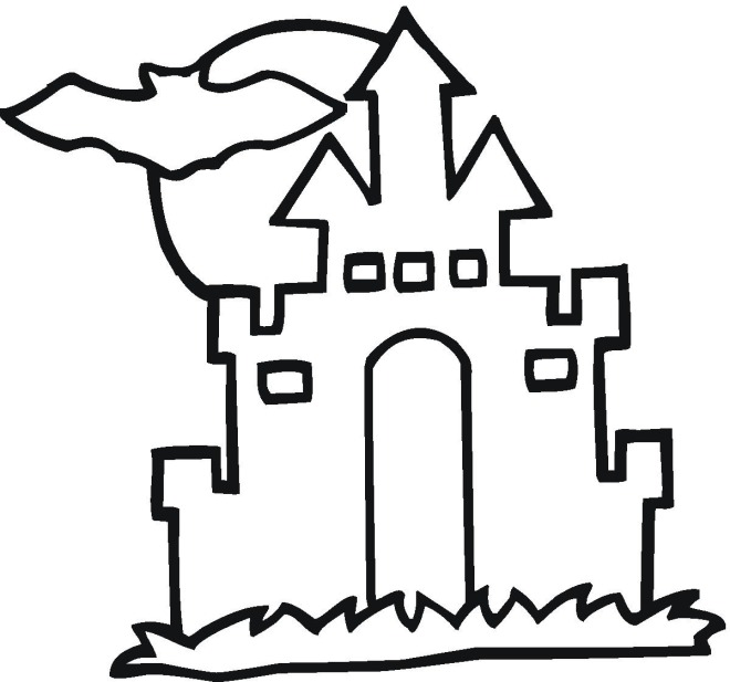 haunted house coloring pages for kids - haunted house pictures for kids clipart best