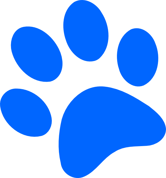 Blue Paw Print Clip Art Vector Clip Art Online Royalty Free - ClipArt ...