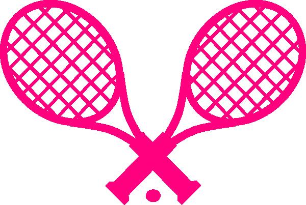 Pink Tennis Racquet clip art - vector clip art online, royalty ...