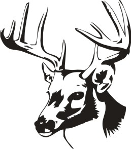 Black And White Deer Head on whitetail deer silhouette clip art