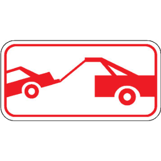Barco Products No Parking Signs Car Being Towed Symbol Sign
