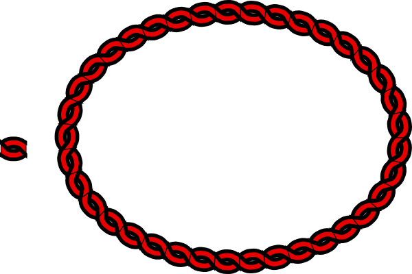 Nautical Rope Border Oval Nautical rope border clip