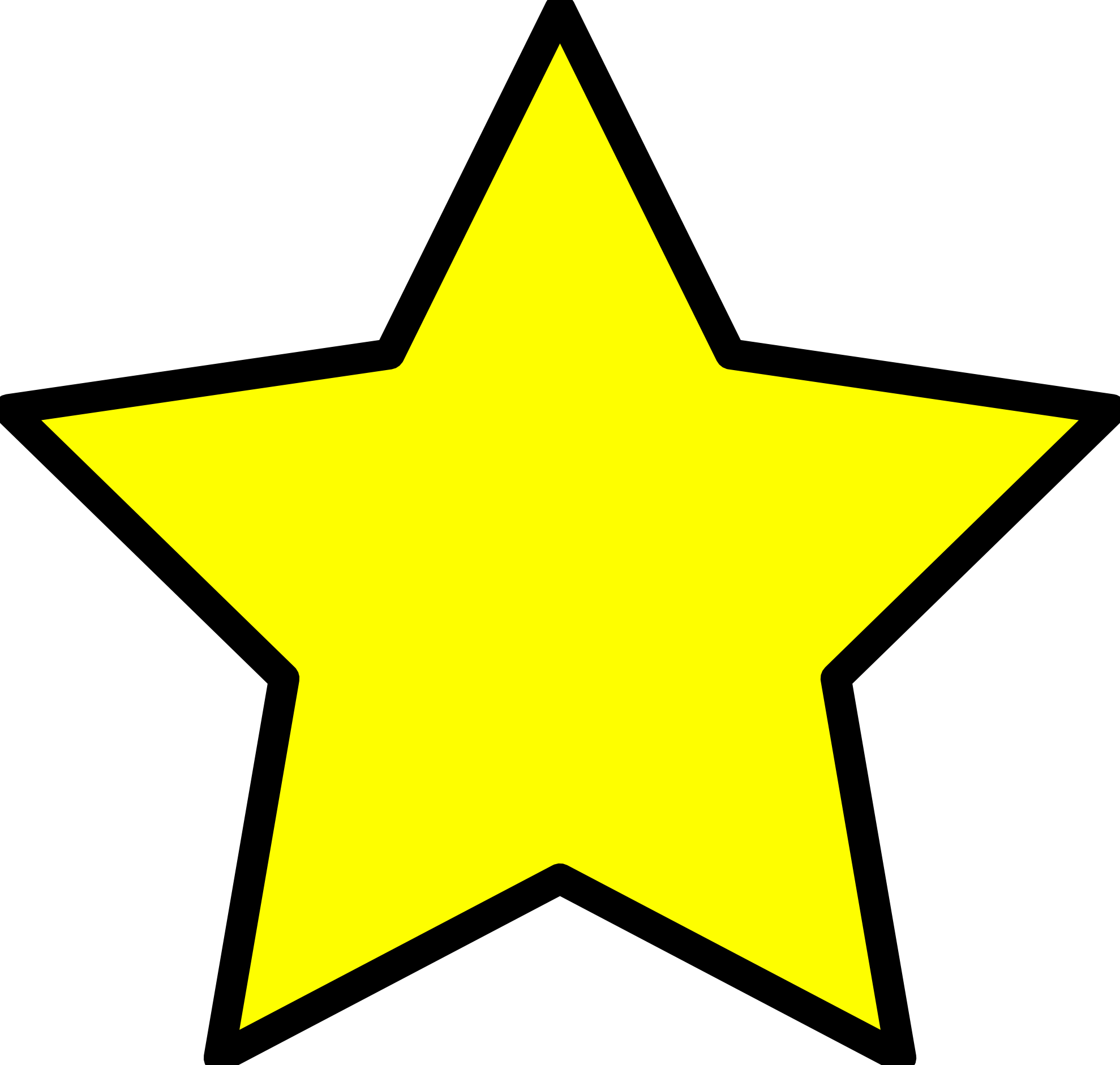Clip Art: Yellow Star Christmas Xmas Holiday Art ...