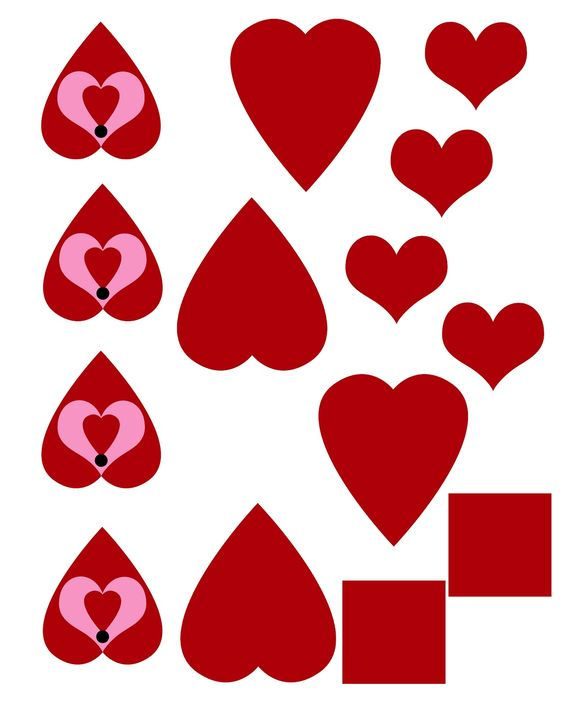 queen of hearts card template - photo #31