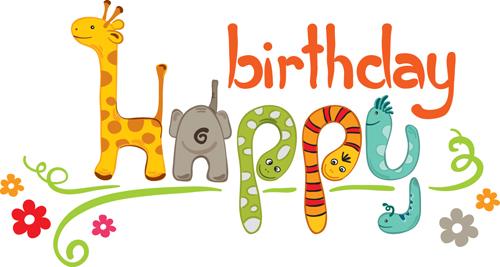 Happy Birthday Font Letter Design Clipart Best