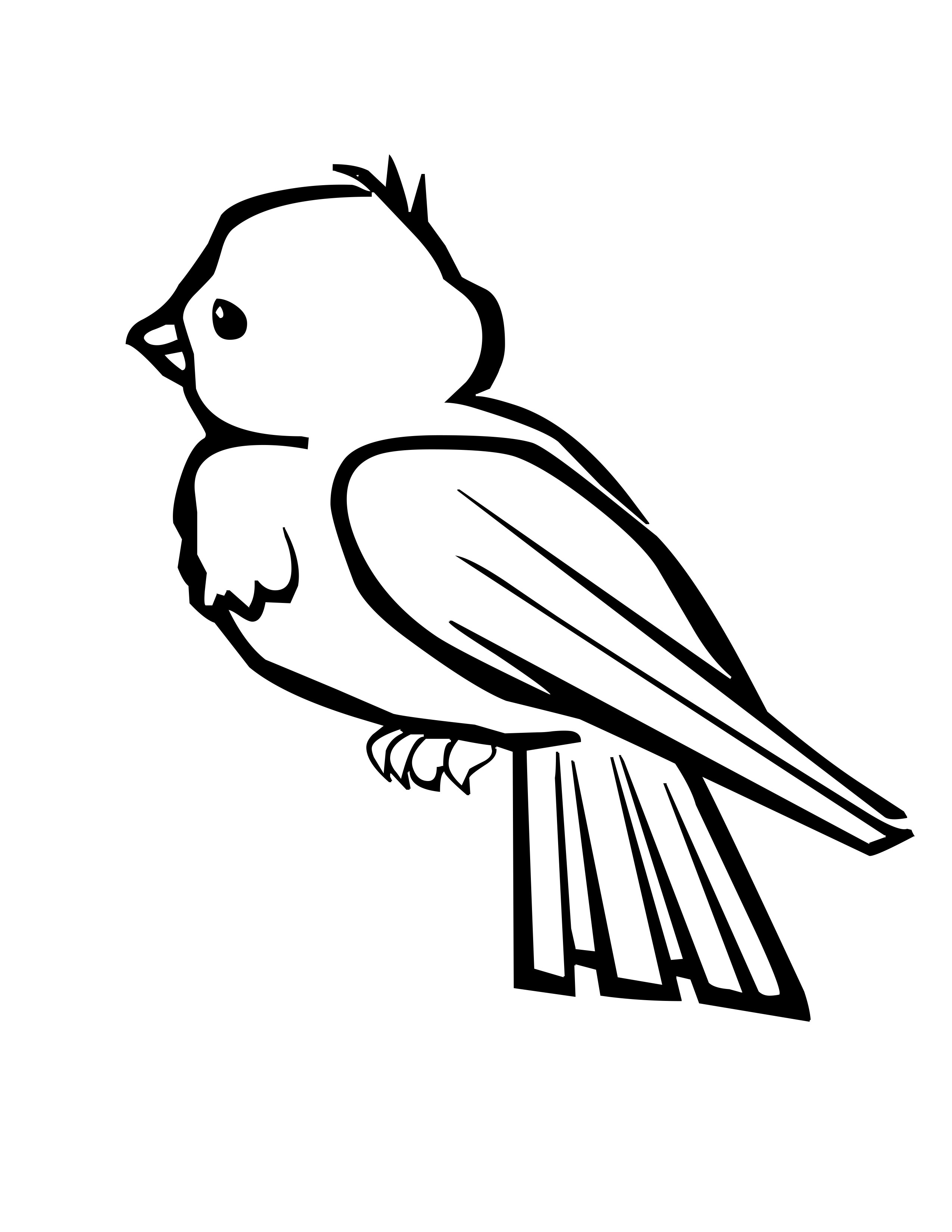 Chickadee Bird Coloring Pages