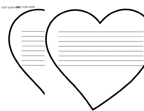 Best photos of heart shaped writing template heart shape for Heart shaped writing template