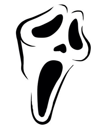 ghostface scream clipart clipart best Ghost Outline Clip Art Scary Halloween Clip Art