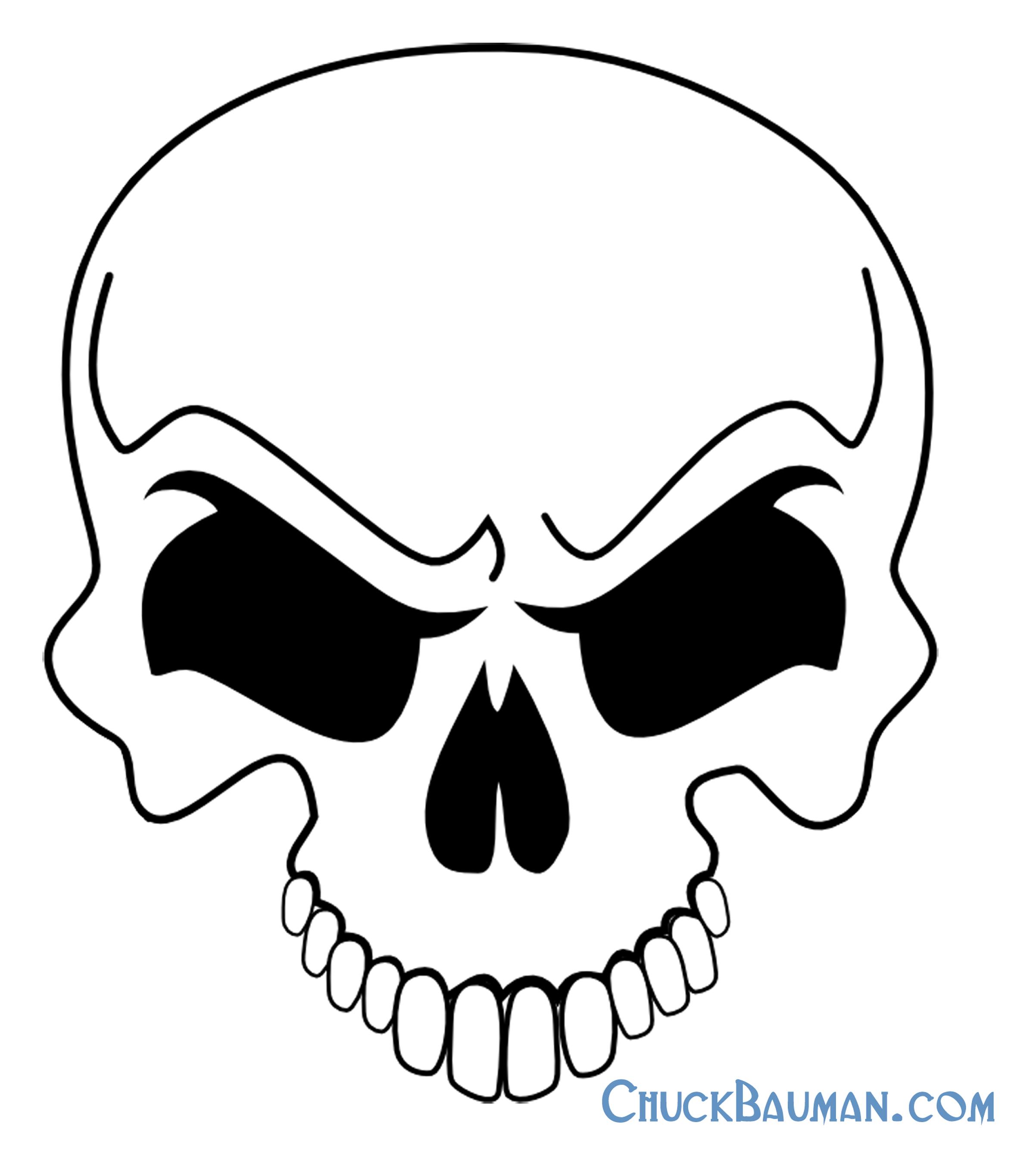 Simple skull tattoo designs - Simple Skeleton Designs Simple Skull Designs