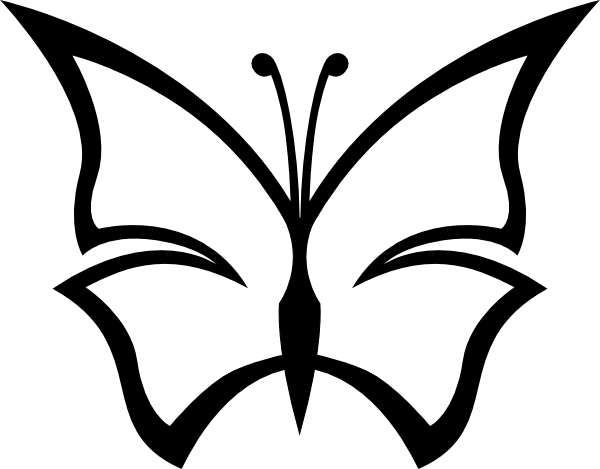 Line Drawing Butterfly : Butterfly line drawings clipart best