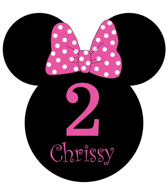 Minnie Mouse Ears Silhouette Clipart