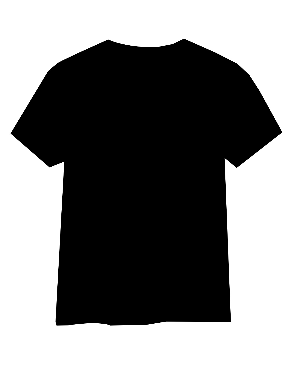 black t shirts template - photo #10
