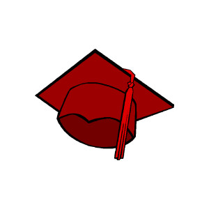 Free clipart graduation cap and diploma