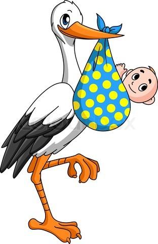 Stork Med Baby Clipart Best