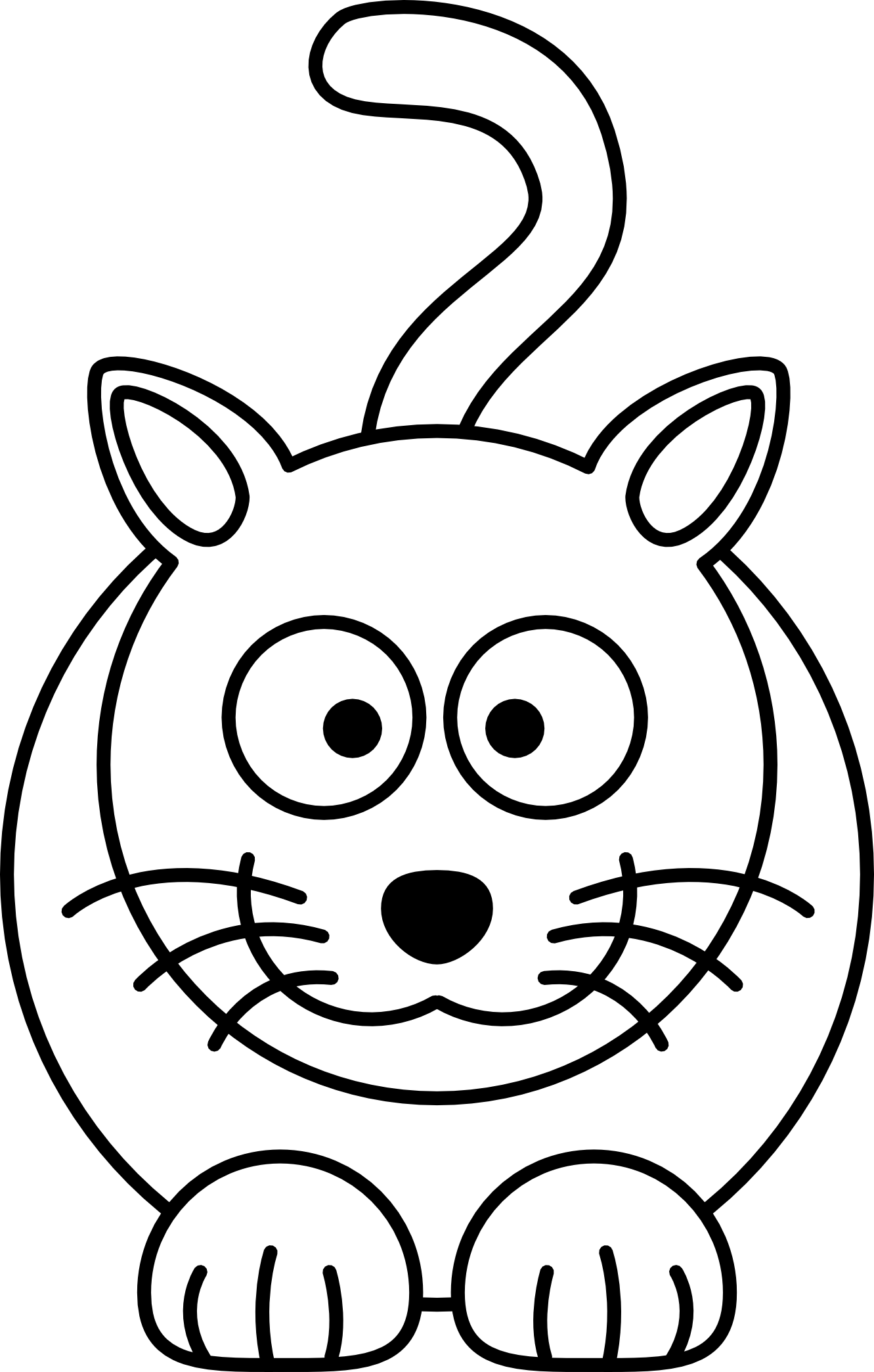 Line Drawing For Kids : How to draw cartoon animals for kids clipart best