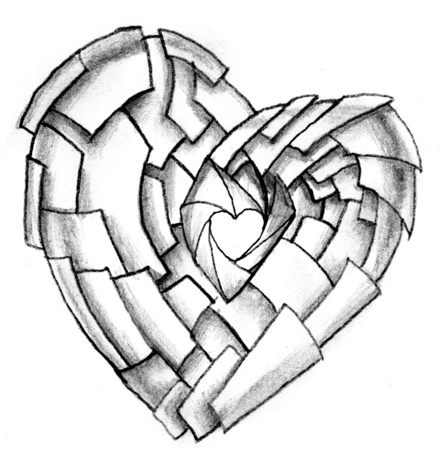 Cool Heart Designs To Draw - ClipArt Best