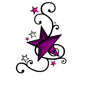 Stars And Hearts Tattoo Designs - ClipArt Best