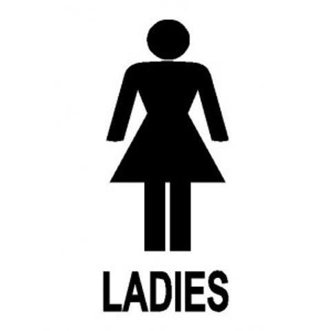 Symbol ladies toilet clipart best for Ladies bathroom sign