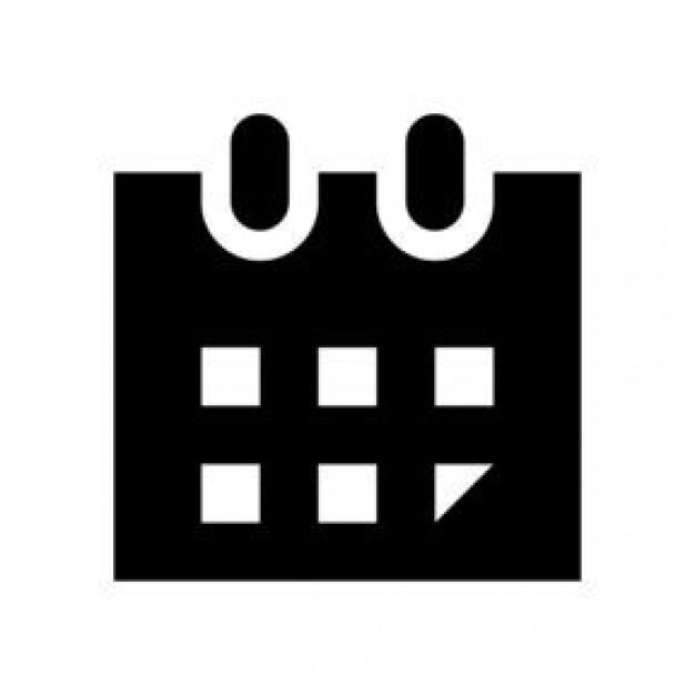 Calendar Black And White : Black and white calendar sketch vector icon download