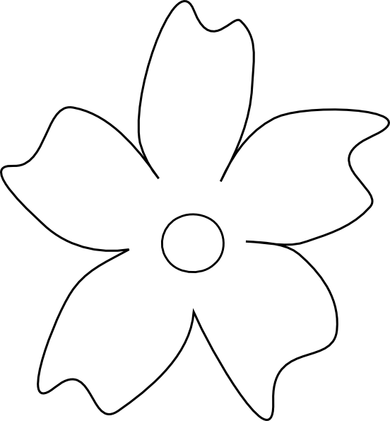 Five petal flower template clipart best for Flower template 5 petals