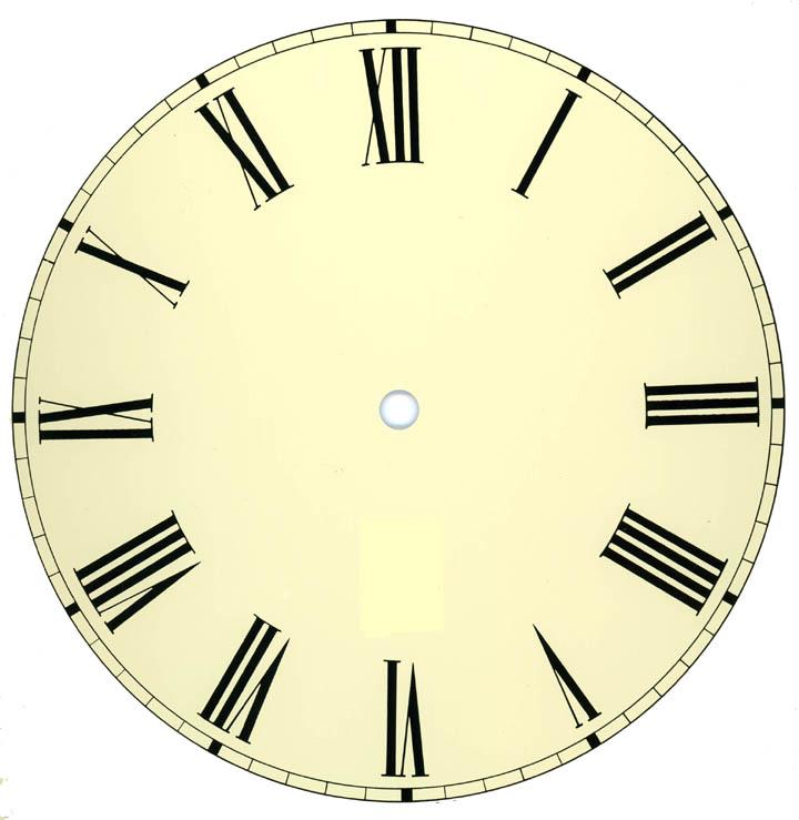 Roman Numerals Clock Face Template - ClipArt Best ...