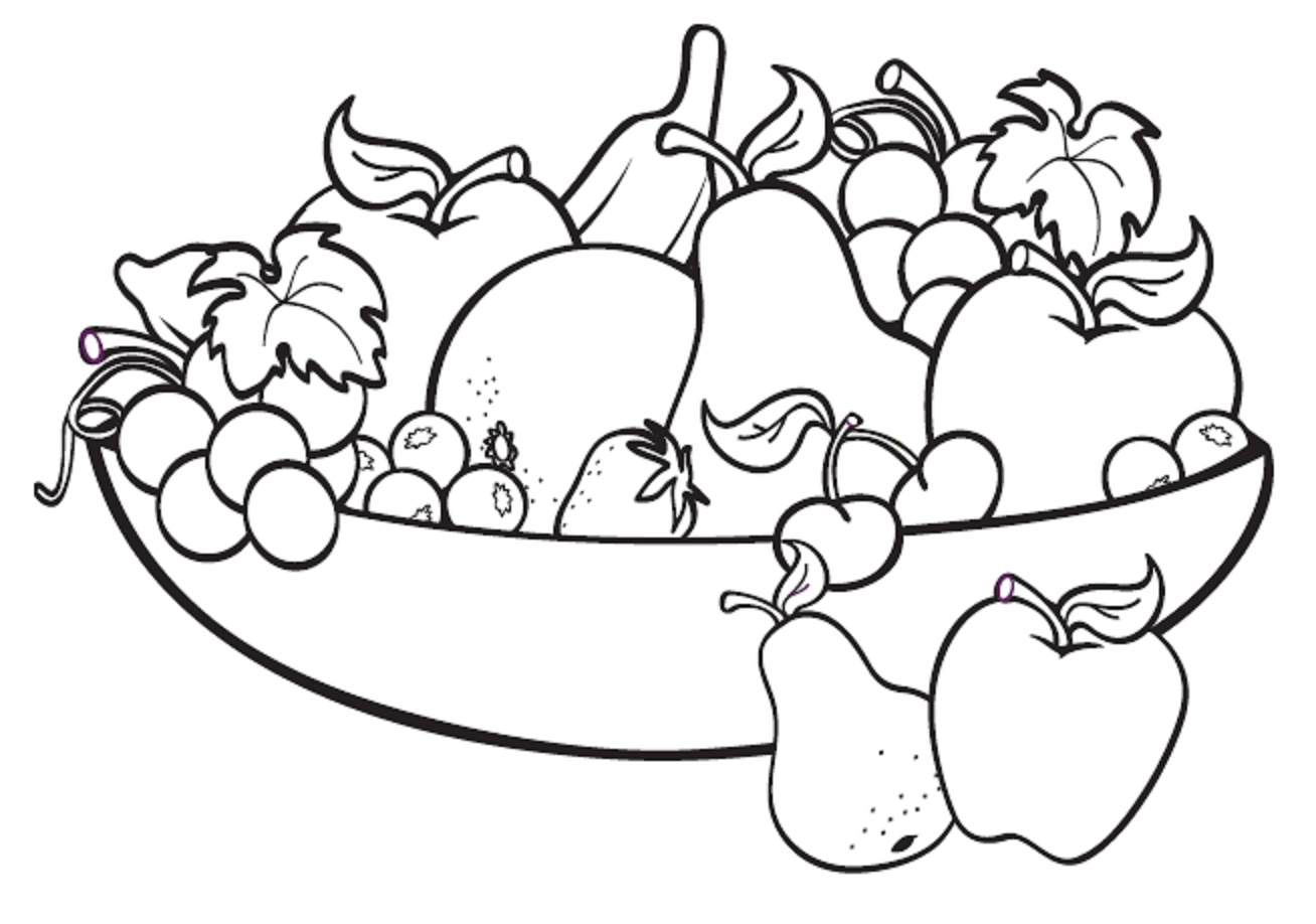 Fruits Images For Drawing Clipart Best Fruits Coloring Pages