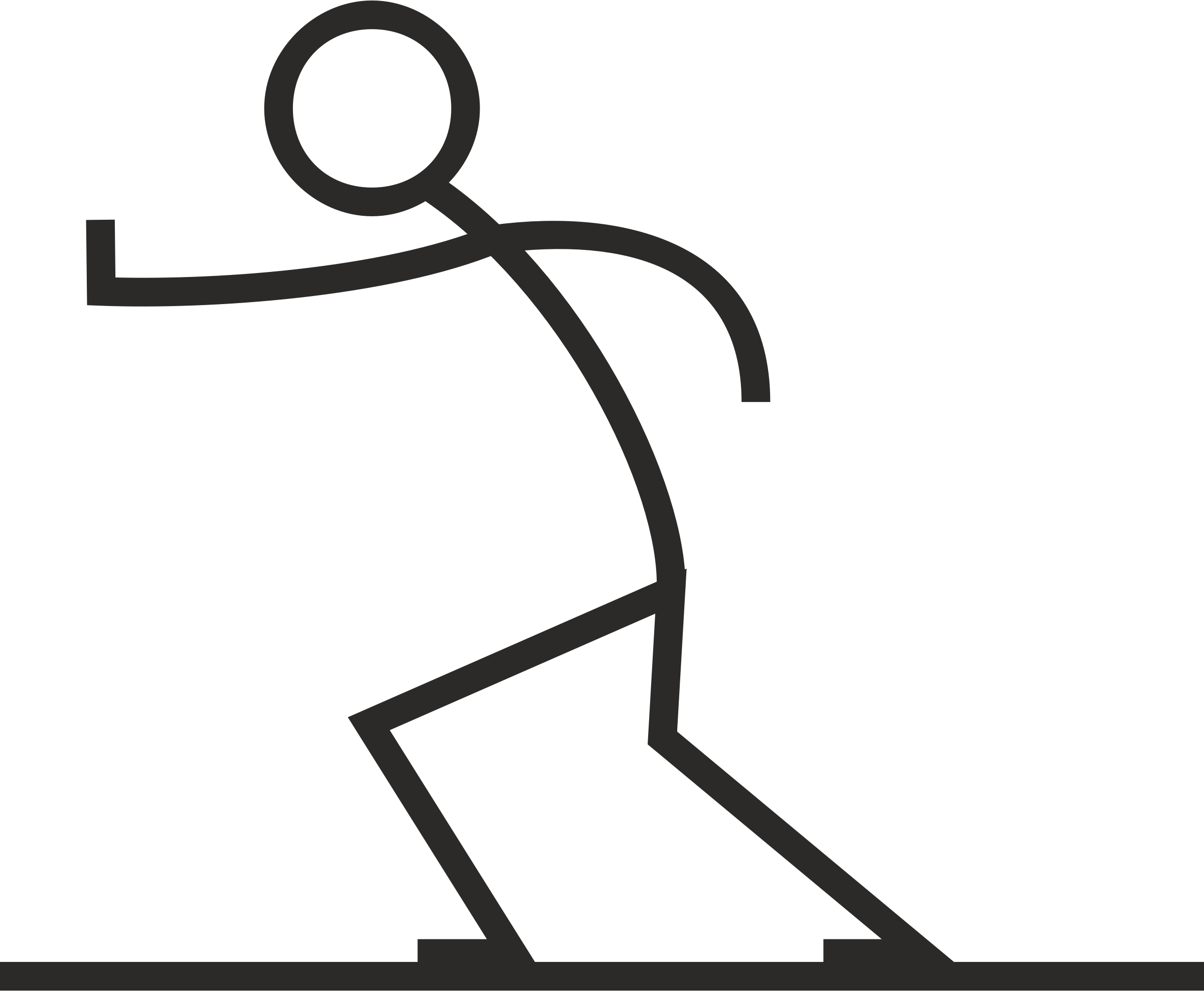 Clipart - Stick figure pushing
