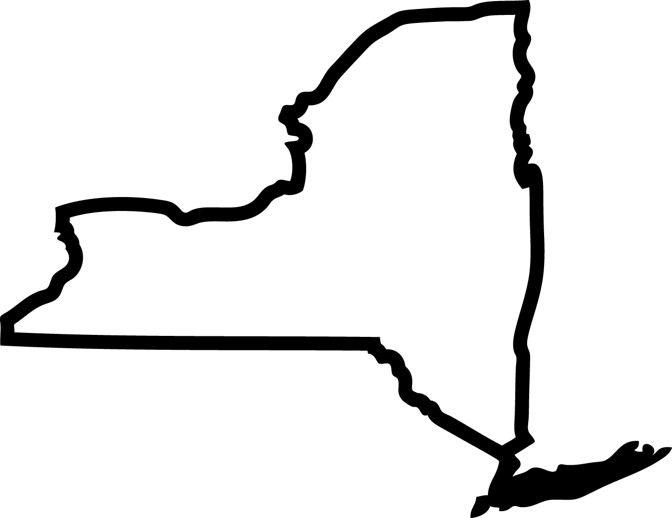 New York State Outline (NY8) [NY8] - $4.99 : Eyecandy Decals ...