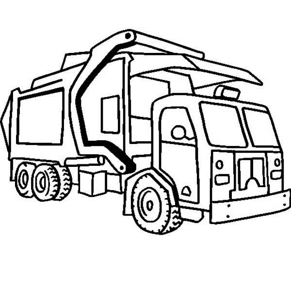 Dump Truck Coloring Pages Transportation Coloringpedia Truck Coloring Pages 6