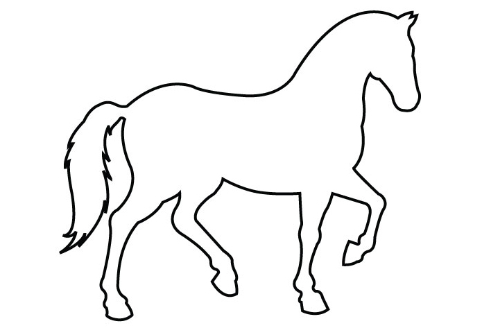 simple outline horse clipart best. Black Bedroom Furniture Sets. Home Design Ideas