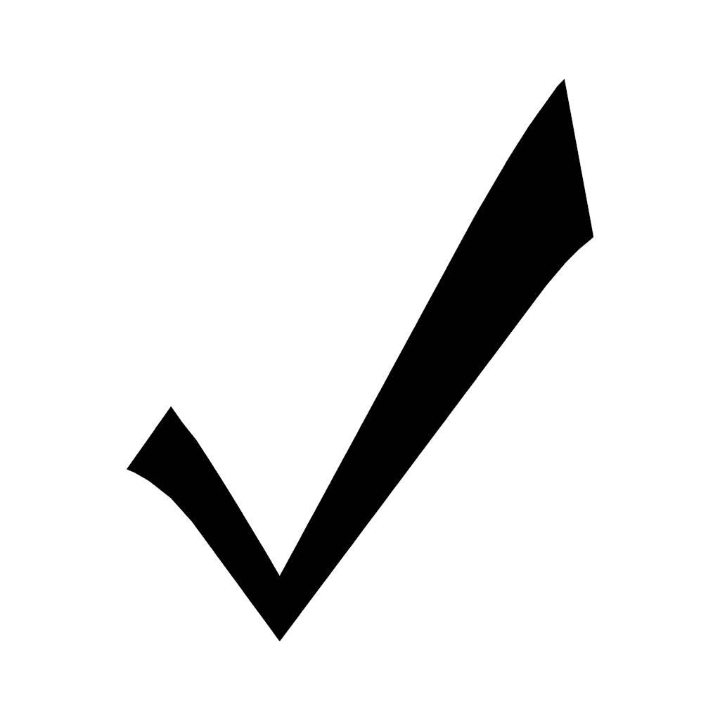 Simple Black Tick Symbol - ClipArt Best