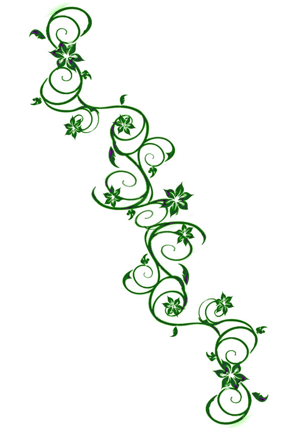 Vine Designs Art : Vine outline tattoo clipart best