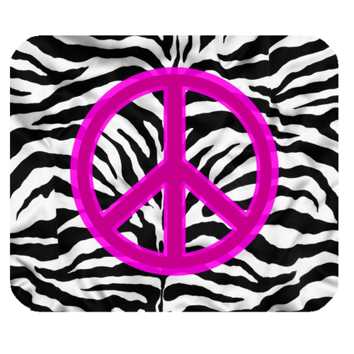 Pink zebra peace sign clipart best for Zebra print and red bathroom ideas