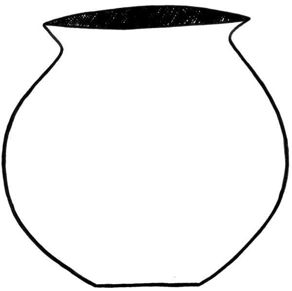Line Drawing Of Flower Pot : Pot outline clipart best
