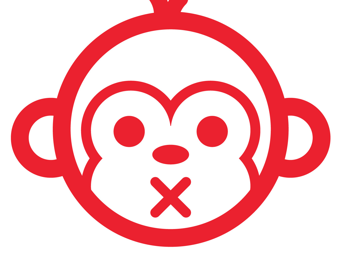 Line Drawing Of Monkey Face : Monkey face outline clipart best