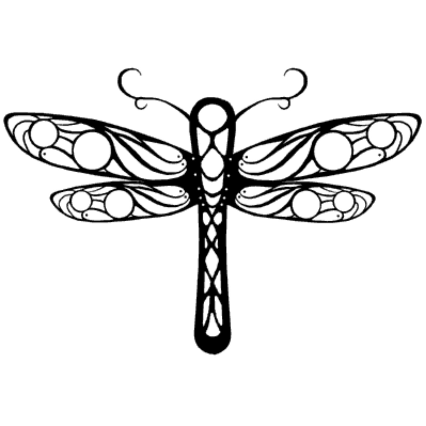 Dragonfly Tattoo Line Drawing : Dragonfly drawings clipart best