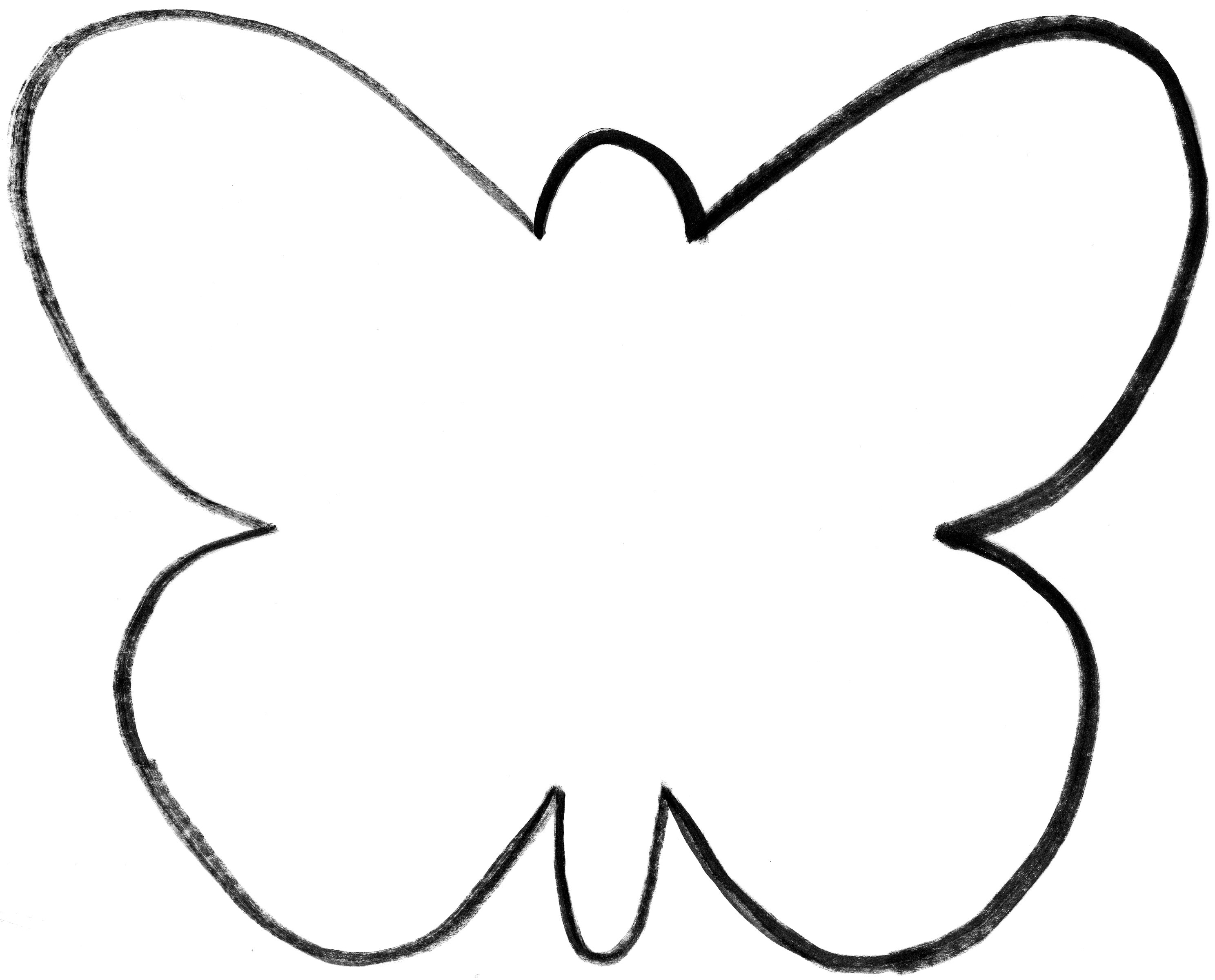 Butterfly Outline Template | Coloring Pages