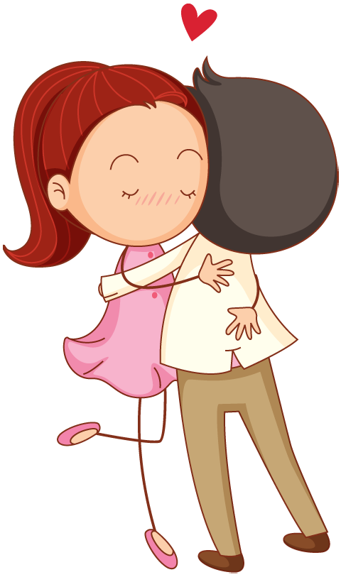 Cute Couple Cartoon Hugging | www.imgkid.com - The Image ...