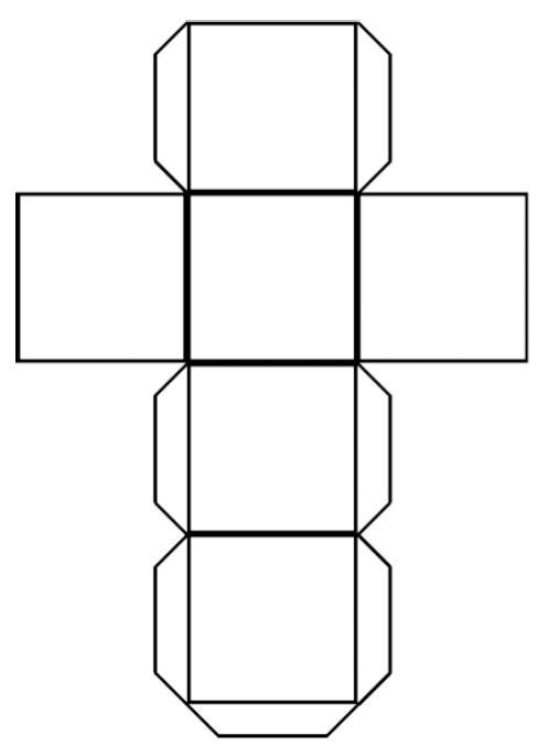 Шаблон как сделать куб из картона