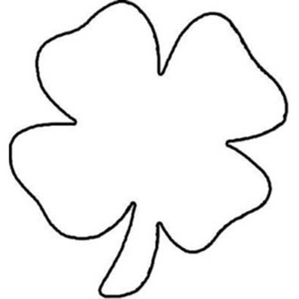 four leave clover coloring pages - photo#18