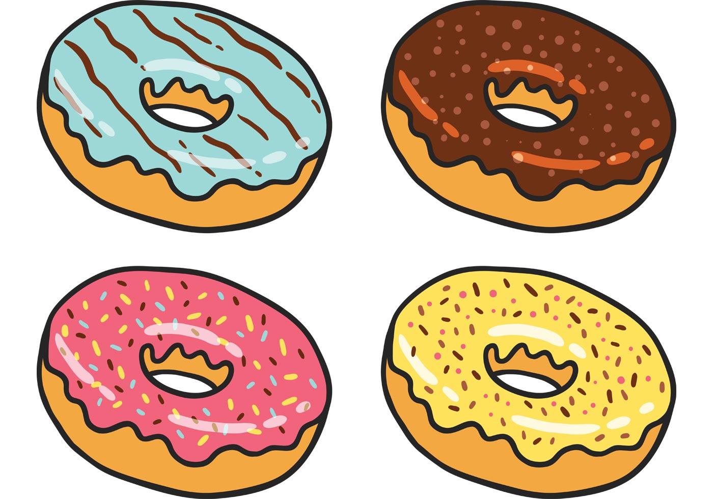 Картинки рисунок пончик 167